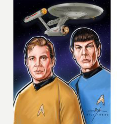 Star Trek The Original Series - Kirk and Spock