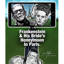 Frankenstein And Bride On Their Honeymoon